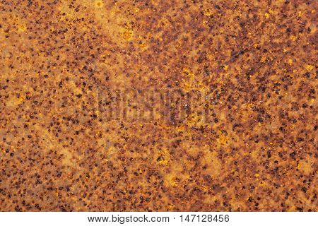 Close Up Of Rusty Grungy Decayed Patterns And Textures