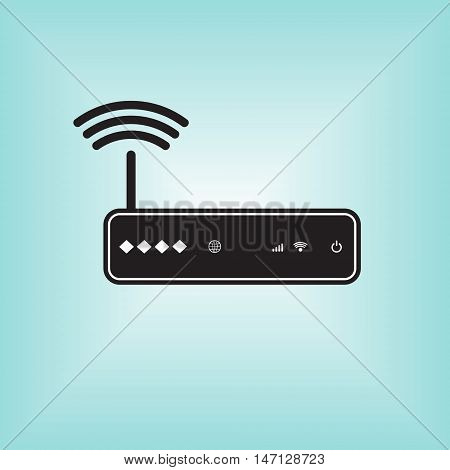 Router vector icon. Isolated vector sign. Wi-fi router vector logo