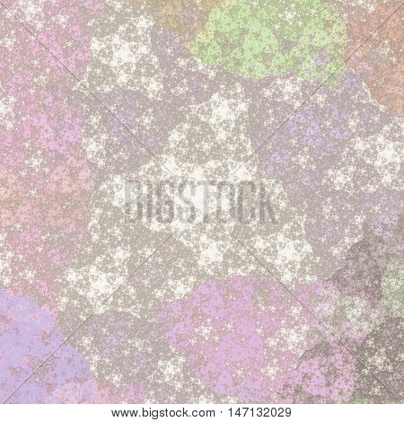 Beautiful abstract image. Computer generated pattern with curves and particles. Colorful vintage texture for variety of design uses.
