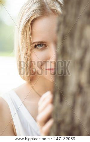 Smiling Girl Looks