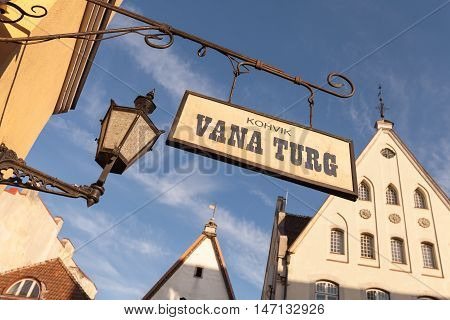 Street Banner In Old Tallinn