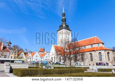 Niguliste Or St. Nicholas Church In Tallinn