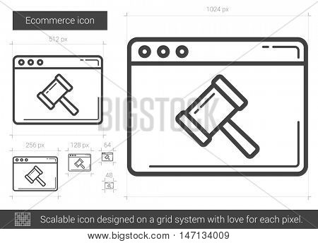 Ecommerce vector line icon isolated on white background. Ecommerce line icon for infographic, website or app. Scalable icon designed on a grid system.