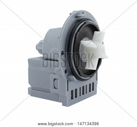 Washing machine water pump, right side view