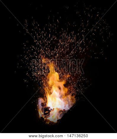 The Flame Sparks From A Forge
