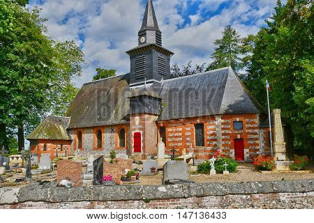 Bois Heroult France - june 23 2016 : the Notre Dame church