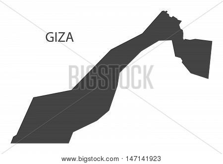 Giza Egypt Map in grey vector high res