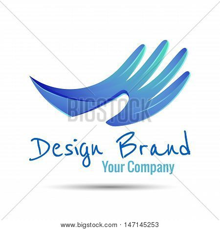 Hand stylized line logo. Creative colorful abstract vector design illustration. Template for your business company.