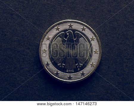 Vintage One Euro Coin