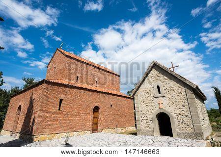 Orthodox Church In The Village Of Kanda. Georgia