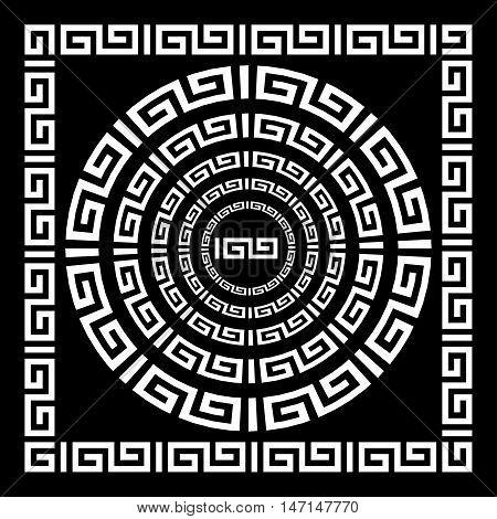 Greek Ornament border vector greece art black vintage