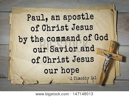 TOP- 100. Bible Verses about Hope.Paul, an apostle of Christ Jesus by the command of God our Savior and of Christ Jesus our hope