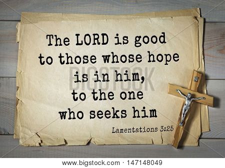 TOP- 100. Bible Verses about Hope.The LORD is good to those whose hope is in him, to the one who seeks him