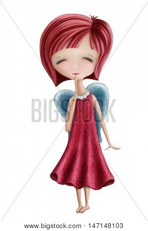 Virgo girl isolated on a white background