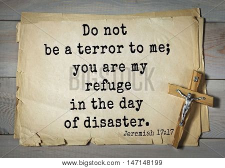TOP- 100. Bible Verses about Hope.Do not be a terror to me; you are my refuge in the day of disaster.