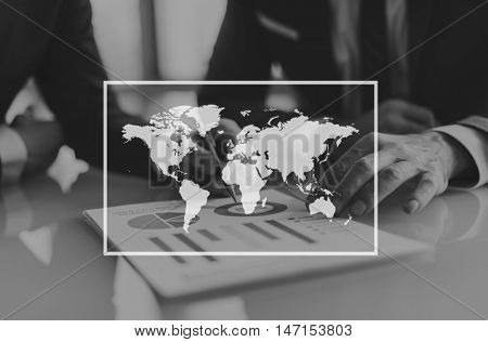 World Map Cartography Navigator Locate Concept