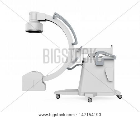 C Arm X-Ray Machine Scanner isolated on white background. 3D render