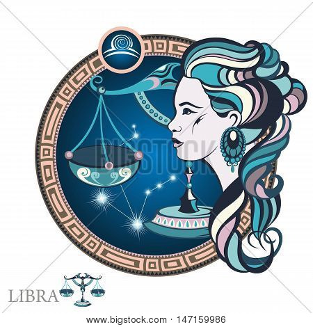 Libra . Zodiac sign for your design