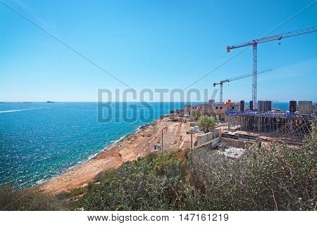 Construction Site With Ocean View