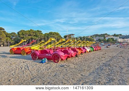 Toy Boats Parked