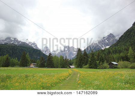 Landscapes between mountain and flower Trentino Alto Adige Italy
