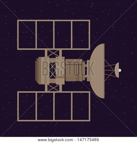 satellite in space orbit navigation communication station vector