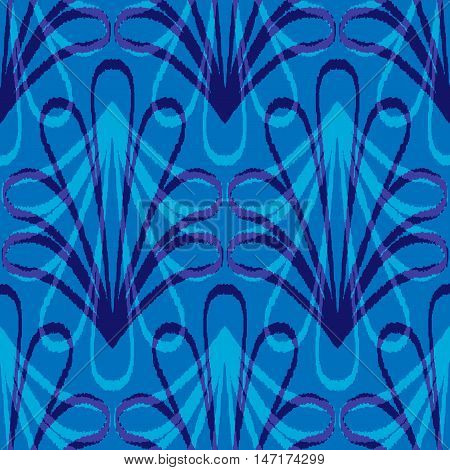 Ethnic seamless pattern with folk floral print. Stylized handmade textile.