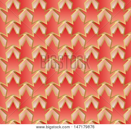 pattern seamless with stars shape - vector illustration