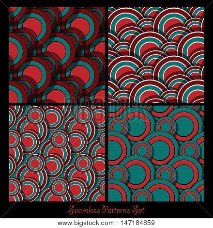seamless vector patterns collection. Zentangles design elements. Eps10