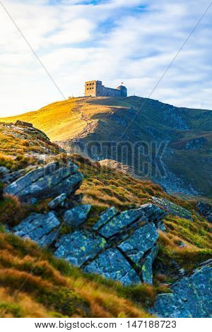 The old observatory on Mount Pip Ivan in Carpathians. Ukraine