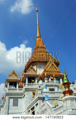 Wat Traimit - temple of Gold Buddha in Bangkok, Thailand