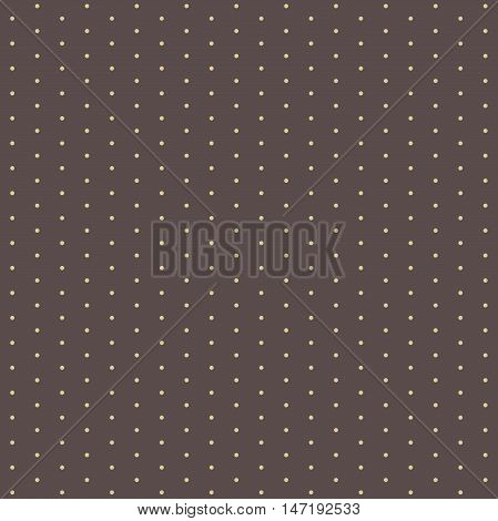 Seamless geometric pattern. Modern ornament with dotted elements. Brown and golden pattern