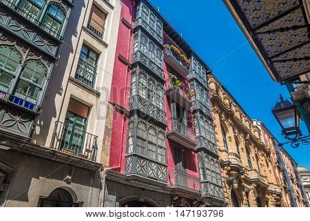 Old streets of Bilbao in Basque Country Spain