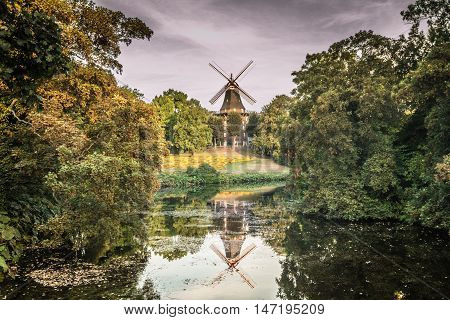 Am Wall Windmill in the city of Bremen, Germany