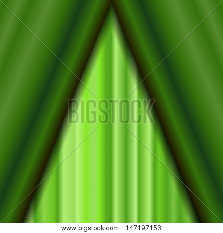 Cinema Closed Green Curtain. Green Textile Pattern. Cinema Stage.