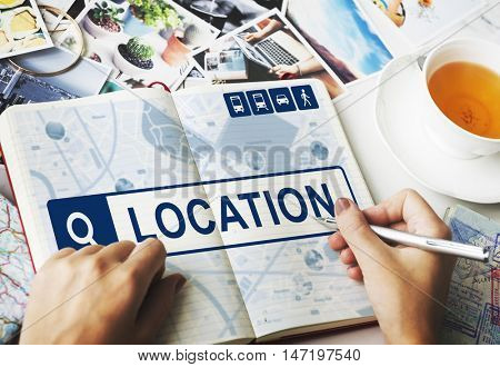 Location Travel Navigation Journey Search Concept