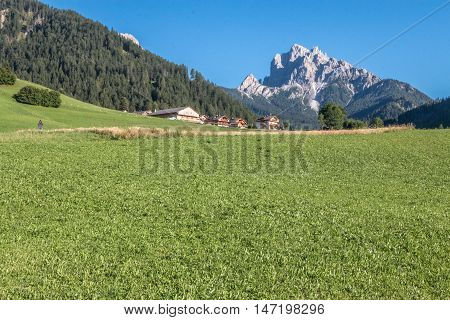 Nice Landscape view of Southern Tyrol in Italian Alps