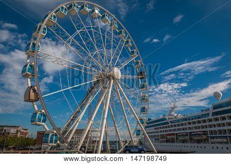 SkyWheel Helsinki a giant ferris wheel in Helsinki Finland