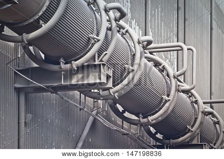 Pipes for air purification at the metallurgical plant