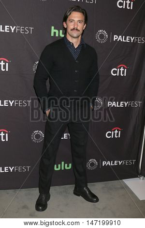 LOS ANGELES - SEP 13:  Milo Ventimiglia at the PaleyFest 2016 Fall TV Preview - NBC at the Paley Center For Media on September 13, 2016 in Beverly Hills, CA