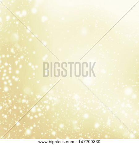 Glitter Defocused Background With Blinking Stars and snowflakes. Blurred Soft colored Bokeh