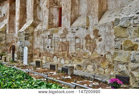 Carmel USA - july 14 2016 : tomb in the catholic mission