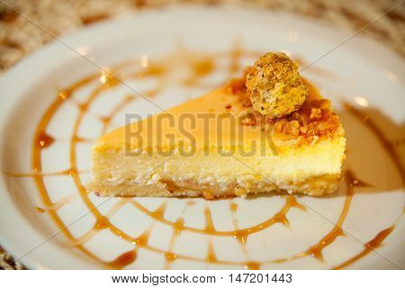 Delicious Cheesecake With Caramel