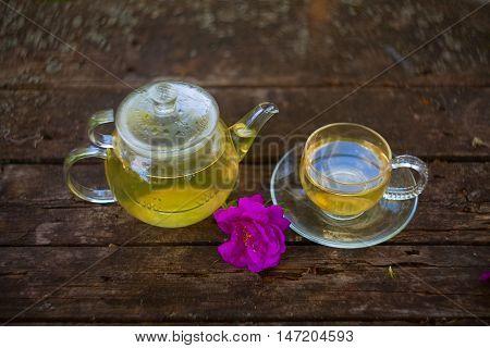 Green Tea In Beautiful Cup