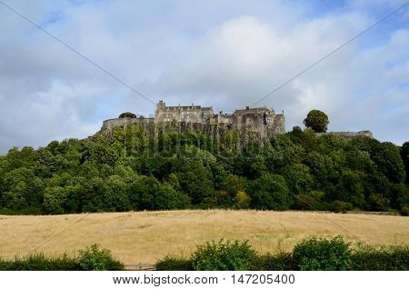Great views of Stirling Castle upon Castle Hill in Scotland.