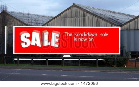 Sign The Knockdown Sale Is Now On