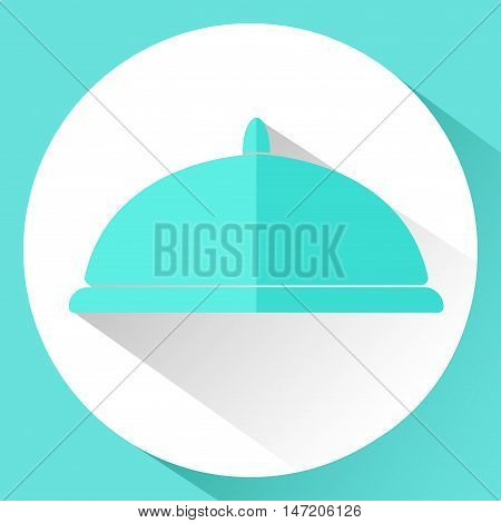 Icon. Plotter in flat style isolated on white background. Vector illustration.