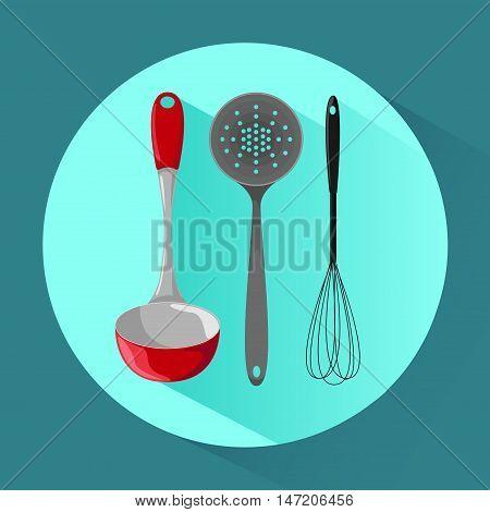 Kitchen utensils. Icon in cartoon style. Vector illustration.