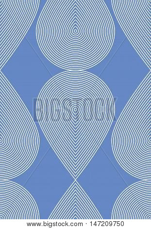 Geometric blue stripy seamless pattern bright vector abstract background. Graphic symmetric ornament.
