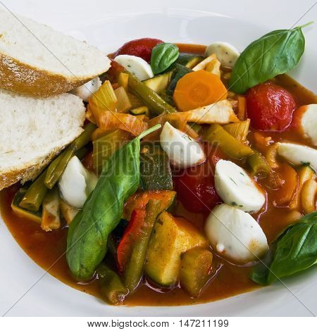 Minestrone, an italian specialty out of vegetables